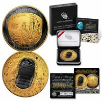 Apollo 11 Space 1 OZ CURVED 2019 UNC Silver Dollar BLACK RUTHENIUM / 24K GOLD