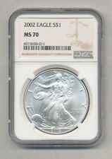 2002 American Silver Eagle NGC MS 70 Exact Shown