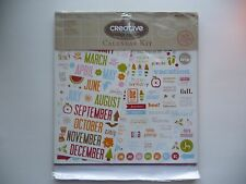 CREATIVE CAFE CALENDER KIT DIY 12X12 PAGES BOOK ALBUM CRAFTING ART NEW