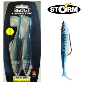 2 Storm 360GT Coastal Biscay Shad Weedless Lure 19g 40g or 60g - Blue Mackerel