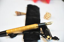 Gold Plated Baoer metal fountain pen nib medium black Classic in Gift Bag