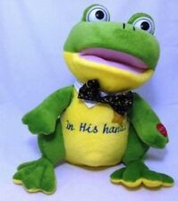 In His Hands Animated, Singing & Dancing Plush Frog – Chantilly Lane Collection