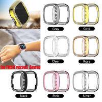 For Fitbit Versa 3/Sense Rhinestones Diamond Watch Case Protective Cover Shell