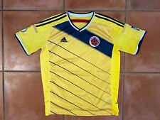 Men's Euc Adidas Columbia Soccer Jersey Yellow Blue Futbol Sz Xl