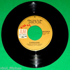 """PHILIPPINES:CARPENTERS - They Long To Be Close To You,7"""" 45 RPM,RARE"""