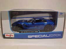 2015 Chevy Corvette Z06 Hardtop Die-cast Car 1:24 Maisto 8 inch Blue