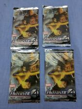Marvel Fantastic Four Trading 5 Card 4 Packs 20 Cards New In Package Movie Deck