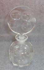 fine old clear cut glass perfume bottle