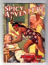"SPICY–ADVENTURE STORIES August 1942 (""Diana Daw"" cartoon by Clayton Maxwell)"