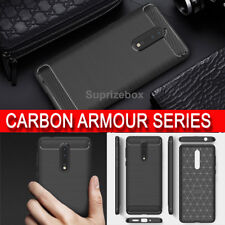 New Rugged Brushed Carbon Shockproof 360 Armour Case Cover For Nokia 3 5 6 8 5.1