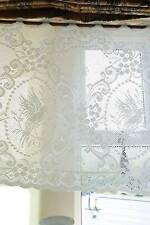COLOMBE Cotone Pizzo Finestra Mantovana shabby chic cottage BRIS-BISE BIANCO 24""