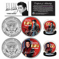 ELVIS PRESLEY 1968 Comeback Special Official JFK Kennedy Half Dollar 2-Coin Set
