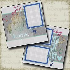 DISNEY Best Day Ever - 2 Premade Scrapbook Pages - EZ Layout 2499