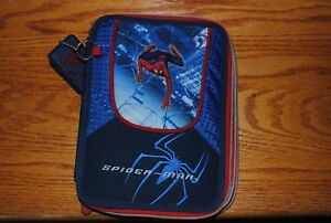 Unique Spiderman 2 pencil case school supplies folder zipper geometric stencils