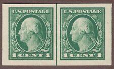 Us Scott #481 1916-17 1c Green Washington, Imperf. Pair, Mint Nh