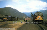 Northern Pacific North Coast Limited meet AT Paradise, MT photo print poster