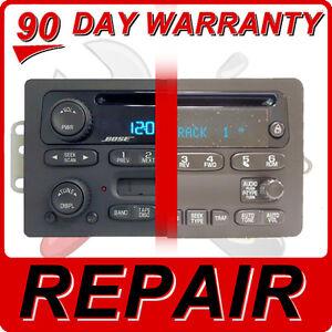 REPAIR YOUR GM Radio Chevy GMC Silverado Avalanche Sierra CD Player Disc FIX OEM
