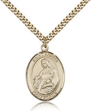 "Saint Agnes Of Rome Medal For Men - Gold Filled Necklace On 24"" Chain - 30 Da..."