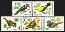1979 Russia CCCP Birds Owls 5v Stamps Set Mint Never Hinged