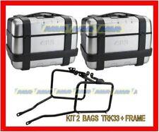 KIT VALIGIE GIVI TRK33 + TELAIO LATERALE KTM 950 990 ADVENTURE 2003 2011 PL650