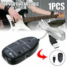 Guitarra 1X Para Cable Cable de interfaz USB enlace Audio Pieza/Mac Adaptador Música de grabación