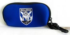 40639 CANTERBURY BULLDOGS NRL NEOPRENE SUNGLASSES SUN GLASSES CASE WITH CLIP