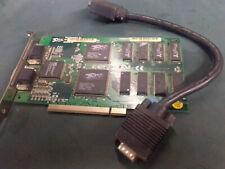 3dfx Voodoo1 4MB PCI Video Graphics Card with pass through cable. tested and wo