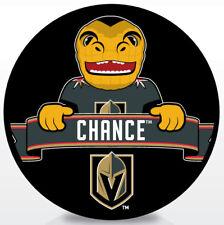 VEGAS GOLDEN KNIGHTS MASCOT Souvenir Hockey Puck CHANCE - NHL Team Logo
