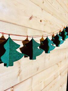🌲3D Felt Christmas Trees x7 Garland🌲Festive Party Event Room Decor Prop 2-4m
