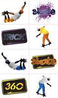 Skate Tattoos x 16 - High Quality - Skate Party Birthday Favours Skateboard