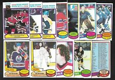 1980-81 OPC 80-81 O PEE CHEE ERROR VARIATION NHL HOCKEY CARD 1-132 SEE LIST