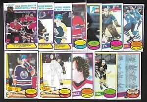 1980-81 OPC 80-81 O PEE CHEE AND ERROR VARIATION NHL HOCKEY CARD 1-132 SEE LIST