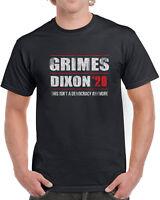 548 Grimes Dixon 2020 mens T-shirt election president walking zombie show dead