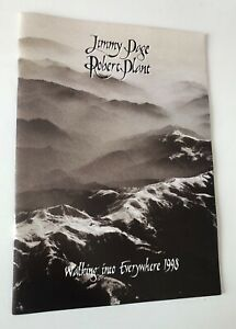 TOUR BOOK ORIGINALE JIMMY PAGE ROBERT PLANT WALKING INTO EVERYWHERE 1998 PERFEC