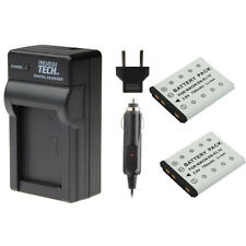 2 x ENEL10 EN-EL10 Batteries + Charger for Nikon S510 S610 S80 S570 S5100 S210