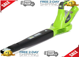Greenworks 40V 150 MPH Variable Speed Leaf Cordless Blower, Battery and Charger