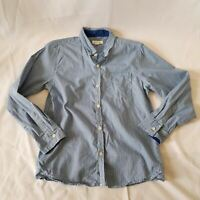 PUMPKIN PATCH Boy Blue White Checkered Collared Long Sleeve Shirt Kids Youth Top