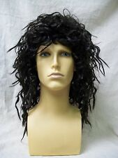 Licensed LMFAO Sky Blu Wig Wild Crimped Rocker Hippie 70s Disco Pirate Musketeer