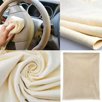 1x 25x40cm Natural Chamois Leather Car Cleaning Cloth Suede Absorbent Towel