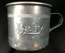 Metal Baby Cup Rustic Vintage Aluminum or Tin