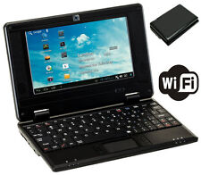 "7"" 7 inch NETBOOK MINI LAPTOP WIFI ANDROID 4.4 8GB 1.5GHz NOTEBOOK PC BLK Tablet"