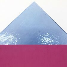 Fuchsia Pink Transparent Bullseye Fused Fusing Glass Striker 3mm 5x5cm Coe90