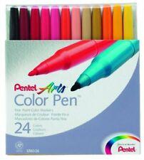 Pentel Color Pen Set, Set of 24 Assorted Colors (S360-24)