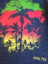 VINTAGE HANG TEN COLORFUL PALM TREES TANK TOP SMALL