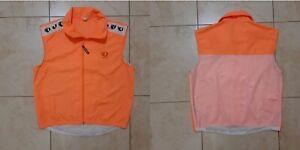 Pearl Izumi Cycling Gilet Size L Jersey Orange Camiseta Cycle