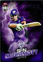 ✺New✺ 2017 2018 HOBART HURRICANES BBL Cricket Card BEN MCDERMOTT