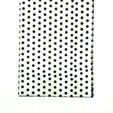 "100 Black Dots Printed Cello Cellophane Gusset Bags - Large C4  11½"" x 5"" x 3"""