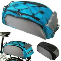 Cycle Cycling Bicycle Bike Rear Frame Seat Backpack Bag Handbag Pannier Blue