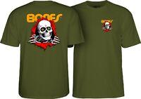 Bones Ripper Powell Peralta Brigade T-Shirt Green Skull OG Skateboard M L XL XXL