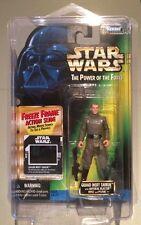 1997 Star Wars Potf congelar fotograma Grand Moff Tarkin & película de células Entubado ⭐ ⭐ ⭐ como nuevo ⭐